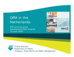 QRA in the Netherlands