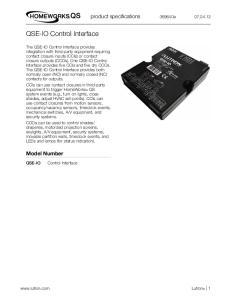 QSE-IO Control Interface