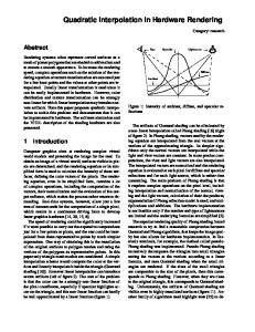 Quadratic Interpolation in Hardware Rendering