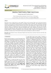 Quadrotor Model Predictive Flight Control System