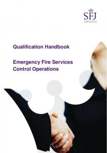 Qualification Handbook. Emergency Fire Services Control Operations