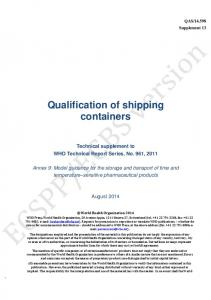 Qualification of shipping containers