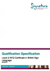 Qualification Specification