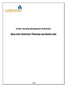 QUALIFIED CONTRACT PROCESS AND GUIDELINES