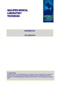 QUALIFIED MEDICAL LABORATORY TECHNICIAN