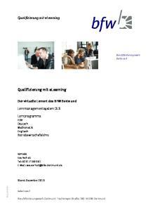 Qualifizierung mit elearning