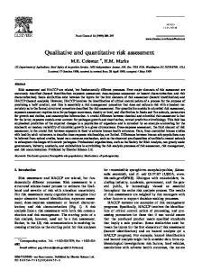 Qualitative and quantitative risk assessment