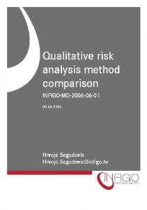 Qualitative risk analysis method comparison