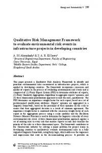 Qualitative Risk Management Framework to evaluate environmental risk events in infrastructure projects in developing countries