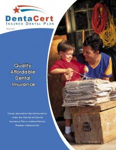 Quality Affordable Dental Insurance