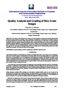 Quality Analysis and Grading of Rice Grain Images
