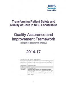 Quality Assurance and Improvement Framework