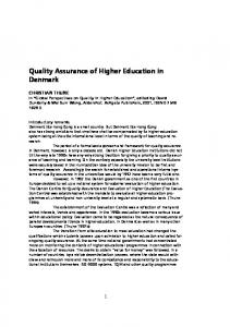 Quality Assurance of Higher Education in Denmark