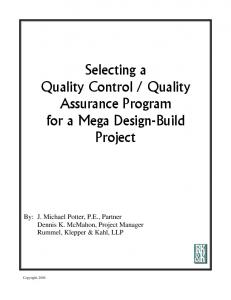Quality Assurance Program for a Mega Design-Build Project