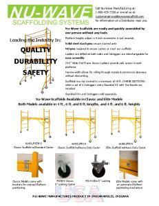 QUALITY DURABILITY SAFETY