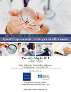 Quality Improvement Strategies for All Learners
