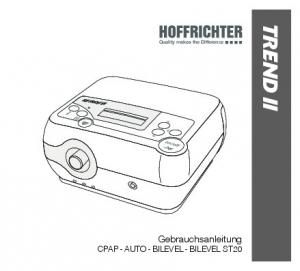 Quality makes the Difference TREND II. Gebrauchsanleitung CPAP - AUTO - BILEVEL - BILEVEL ST20