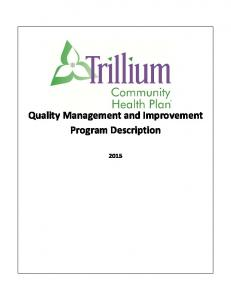 Quality Management and Improvement Program Description