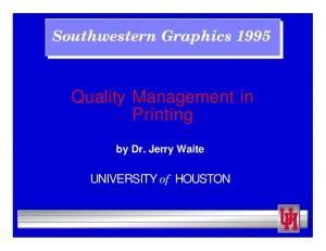 Quality Management in Printing