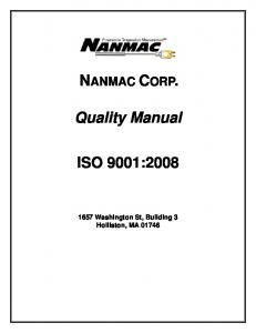 Quality Manual ISO 9001:2008