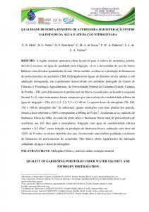 QUALITY OF GARDENING PORTFOLIO UNDER WATER SALINITY AND NITROGEN FERTILIZATION
