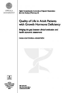 Quality of Life in Adult Patients with Growth Hormone Deficiency
