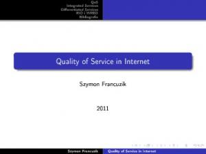 Quality of Service in Internet