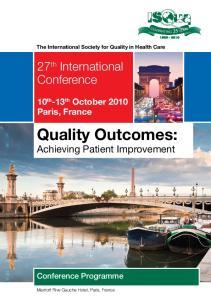 Quality Outcomes: Achieving Patient Improvement