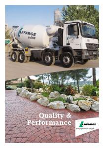 Quality & Performance. Concrete