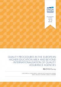 Quality Procedures in the European higher education area and beyond Internationalisation of quality assurance agencies