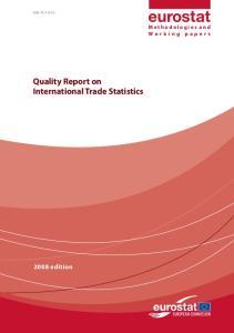 Quality Report on International Trade Statistics