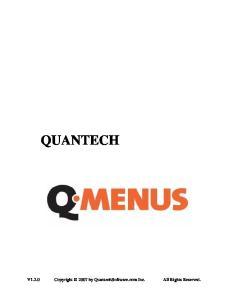 QUANTECH. V1.2.0 Copyright 2007 by QuantechSoftware.com Inc. All Rights Reserved
