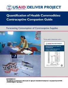 Quantification of Health Commodities: Contraceptive Companion Guide