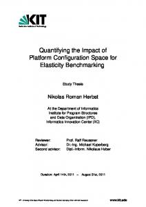 Quantifying the Impact of Platform Configuration Space for Elasticity Benchmarking