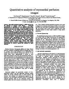 Quantitative analysis of myocardial perfusion images