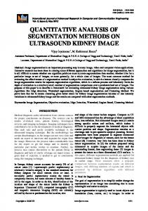 QUANTITATIVE ANALYSIS OF SEGMENTATION METHODS ON ULTRASOUND KIDNEY IMAGE