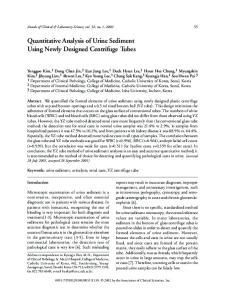 Quantitative Analysis of Urine Sediment Using Newly Designed Centrifuge Tubes
