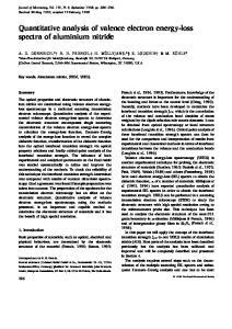 Quantitative analysis of valence electron energy-loss spectra of aluminium nitride
