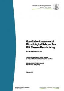 Quantitative Assessment of Microbiological Safety of Raw Milk Cheeses Manufacturing