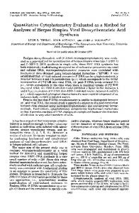 Quantitative Cytophotometry Evaluated as a Method for