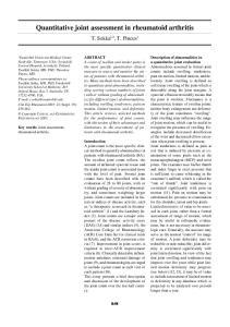 Quantitative joint assessment in rheumatoid arthritis