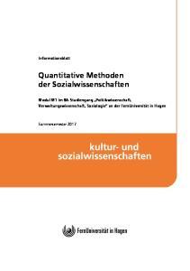 Quantitative Methoden der Sozialwissenschaften