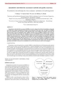 Quantitative microbial risk assessment: methods and quality assurance