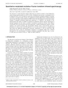 Quantitative modulated excitation Fourier transform infrared spectroscopy