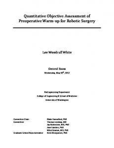 Quantitative Objective Assessment of Preoperative Warm-up for Robotic Surgery