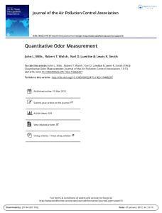 Quantitative Odor Measurement