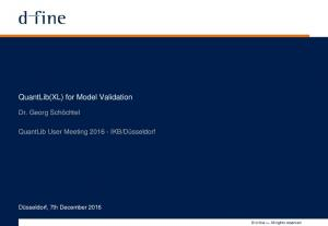 QuantLib(XL) for Model Validation