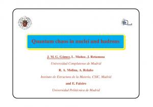 Quantum chaos in nuclei and hadrons