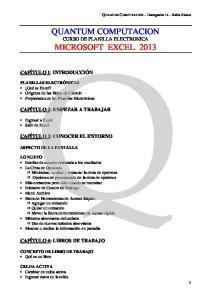 QUANTUM COMPUTACION CURSO DE PLANILLA ELECTRONICA MICROSOFT EXCEL 2013