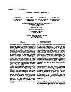 Quantum Genetic Algorithms